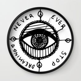 Never Ever Stop Wall Clock
