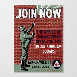 Join Civilian Defense -- WPA Canvas Print