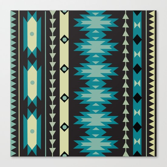 American Native Pattern No. 40 Canvas Print