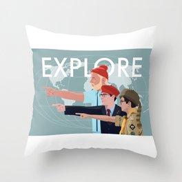 LIFE RUSHMOONRISE Throw Pillow