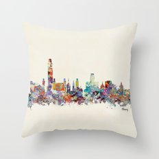 Albany new york skyline Throw Pillow