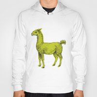 llama Hoodies featuring llama by youareconstance