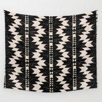 navajo Wall Tapestries featuring NAVAJO by bows & arrows