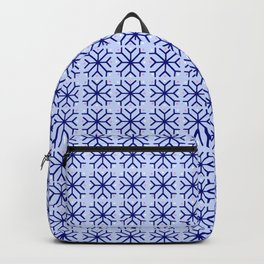 snowflake 15 For Christmas blue Backpack