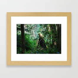 The Witch in the Woods Framed Art Print