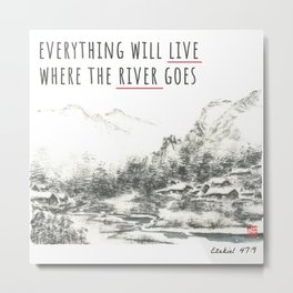 River of Living Water Metal Print