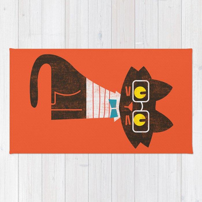 Fitz - Preppy cat Rug