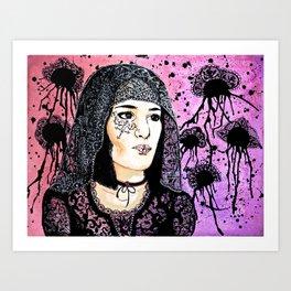 Lady Lace Art Print