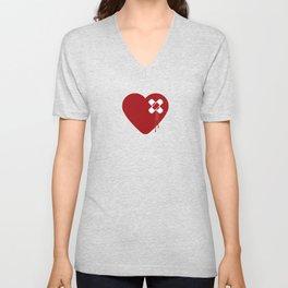 Heart Broken Unisex V-Neck