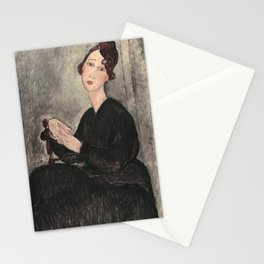 Portrait of Dedie Hayde by Amedeo Modigliani Stationery Cards