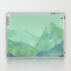 Lines in the mountains - green Laptop & iPad Skin