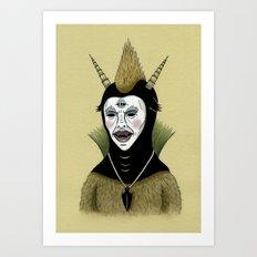 Creature with Black Amulet  Art Print