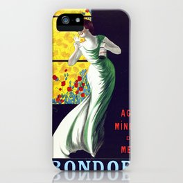 Poster vintage spanish mineral water Krondorf iPhone Case