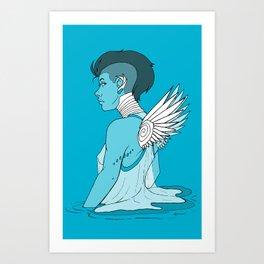 Angel Hawk Avenger Art Print