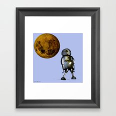 The small solitary robot Framed Art Print