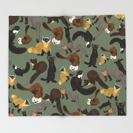 Martens of the World #1 Throw Blanket