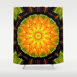 Citrus Slice Kaleidoscope Shower Curtain