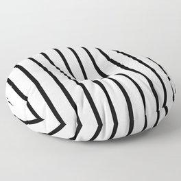 Vertical Lines (Black/White) Floor Pillow