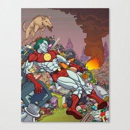 The Death of Captain Planet Canvas Print