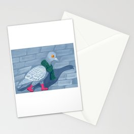 Pigeon in the city Stationery Cards