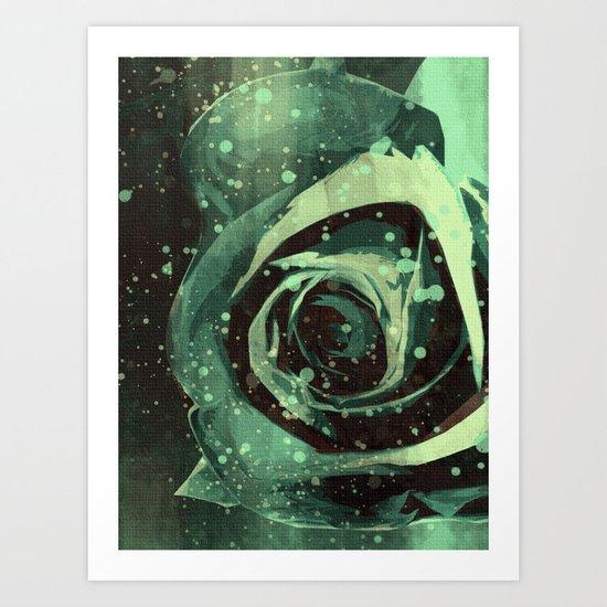 Turquoise Roses 1 Art Print