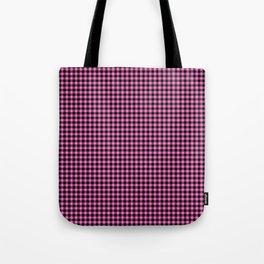 Mini Black and Pink Cowboy Buffalo Check Tote Bag