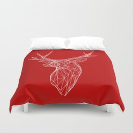 3D Stag Trophey Head Wire Frame Duvet Cover