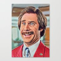 anchorman Canvas Prints featuring Anchorman by Atinum by Goldhart