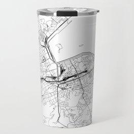 Rio De Janeiro White Map Travel Mug