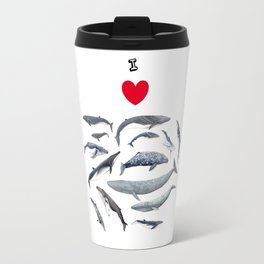 I love whales design Travel Mug