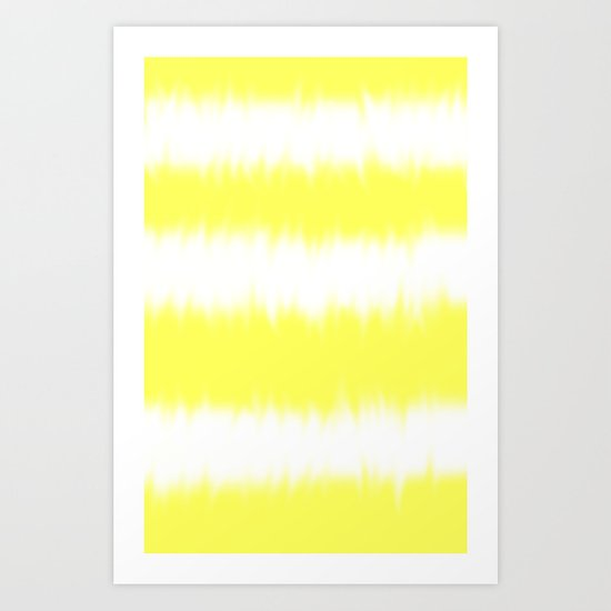 Yellow Tie Dye Art Print
