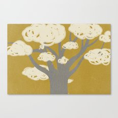 tree clouds Canvas Print