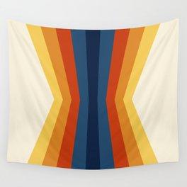Bright 70's Retro Stripes Reflection Wall Tapestry