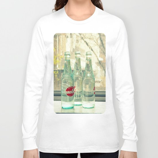 rainy day ~ vintage soda bottles Long Sleeve T-shirt