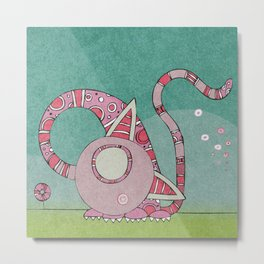Curved and bended cat - Sweetie Metal Print