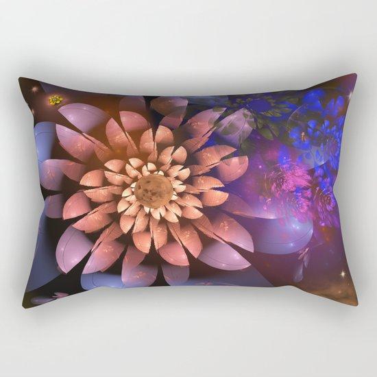 Cosmic flowers in universe Rectangular Pillow