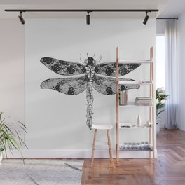 Lace dragonfly Wall Mural