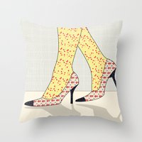 shoes Throw Pillows featuring Shoes by Ben Geiger