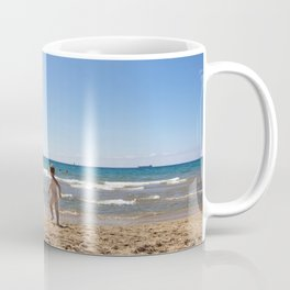 Defying waves Coffee Mug