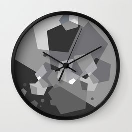 Grayish - Abstract #society6 #decor #buyart Wall Clock