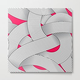Op art pattern. Metal Print