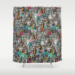Gemstone Cats Shower Curtain