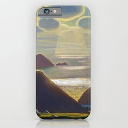 Rays of Sun off the Sea Cliffs Sturrall Donegal, Ireland by Rockwell Kent iPhone Case
