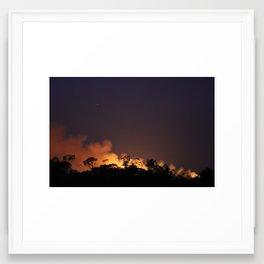Bush fire  Framed Art Print