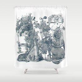 seam imaginations Shower Curtain