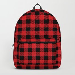 Plaid (red/black) - old Backpack