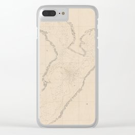 Vintage Map of Tampa Bay FL (1855) Clear iPhone Case