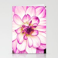dahlia Stationery Cards featuring dahlia by Karl-Heinz Lüpke