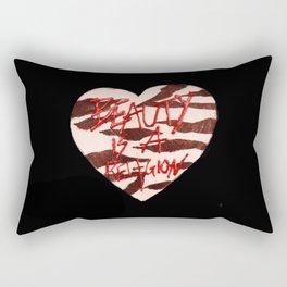 BeautyIsAReligion `ZEBRA HEART` Rectangular Pillow