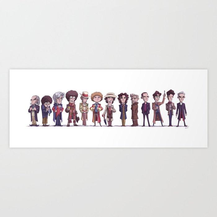 Thirteen Doctors Art Print